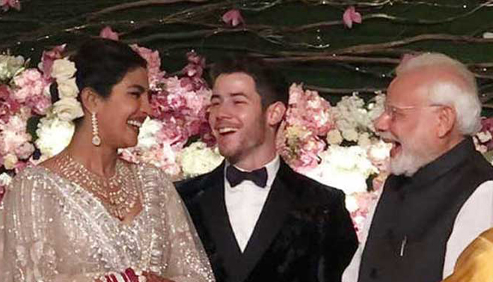 Couple hosted a reception at Hotel Taj Palace in Delhi