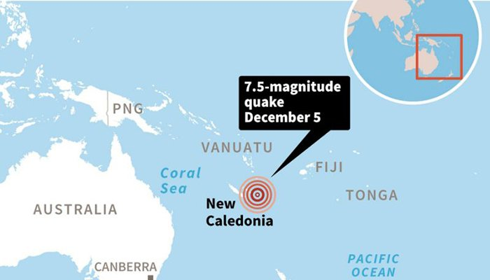 Tsunami warning after huge quake  off New Caledonia