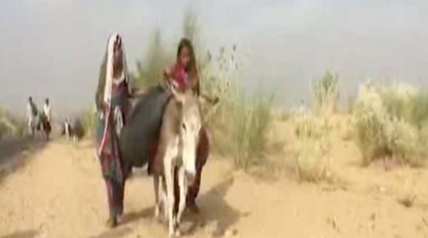 Walking for miles in search of water in Badin
