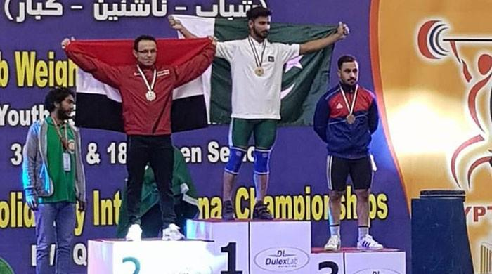 Pakistan's Talha Talib wins gold at weightlifting championship in Egypt