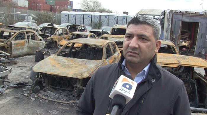 Turkish gang torches cars worth £500,000 of British-Pakistani trader
