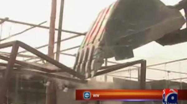 Operation against encroachments on Karachi Circular Railway begins