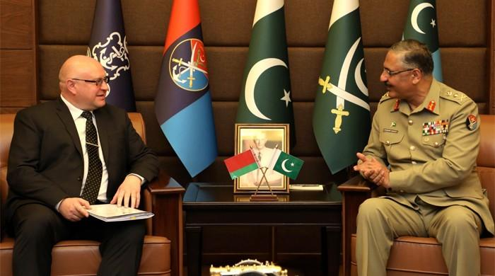 Belarusian Ambassador calls on JCSC chairman Gen Zubair Hayat to talk 'regional dynamics'