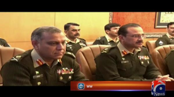 COAS chairs Corps Commanders' conference at GHQ