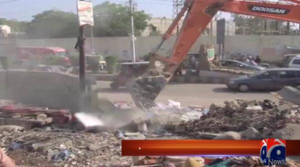 Anti-encroachment operation on KCR route continues