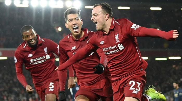 Liverpool back on top as Shaqiri sinks United, Arsenal's unbeaten run ends