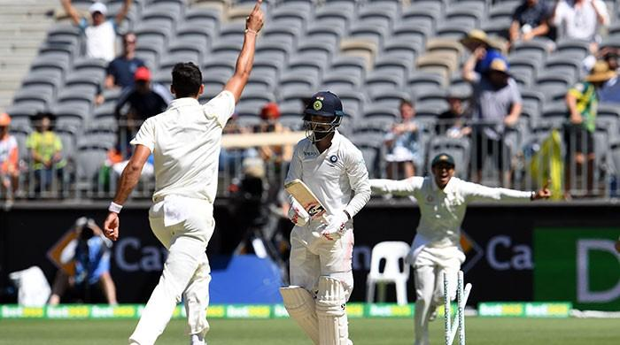India rocked by two early wickets in 287 run chase