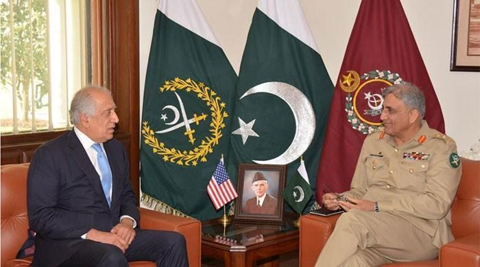 US envoy Zalmay Khalilzad calls on COAS, regional security matters discussed