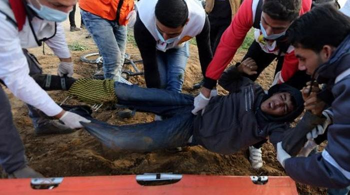 Gaza teen martyred in Israeli fire during border protest: medics