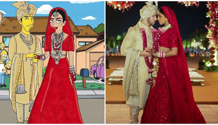 Priyanka Chopra-Nick Jonas' wedding gets 'The Simpsons' look!