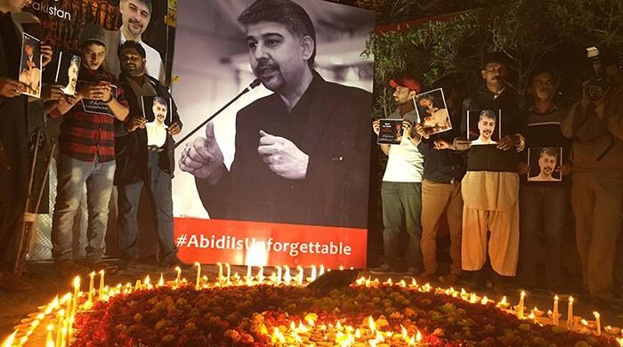 Karachi residents gather to pay tribute to late Ali Raza Abidi