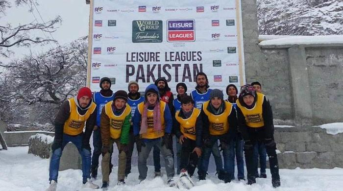 'Leisure Leagues' organises football tournament in snow-covered Hunza valley