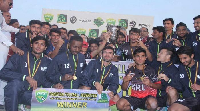 KRL wins Pakistan Premier Football league title fifth time