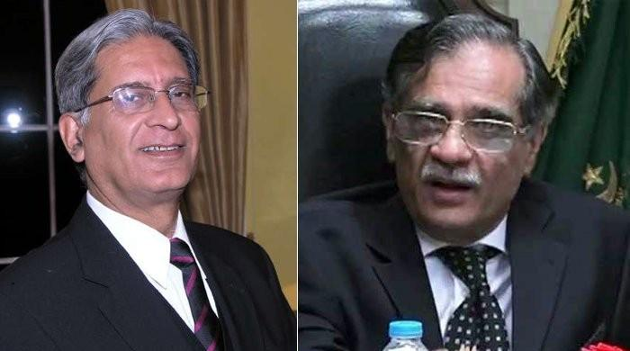 I used to idolise you and wanted to be your student, CJP tells Aitzaz Ahsan