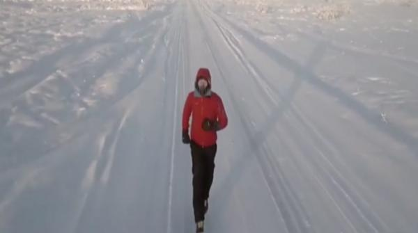 Man runs for charity at the coldest point of the world
