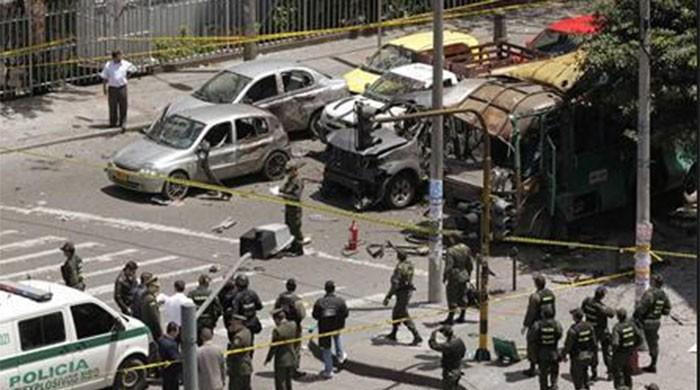 Eight dead in car bomb at Colombian police academy