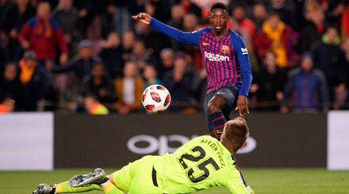 Dembele double helps Barca defeat Levante but threat of disqualification looms