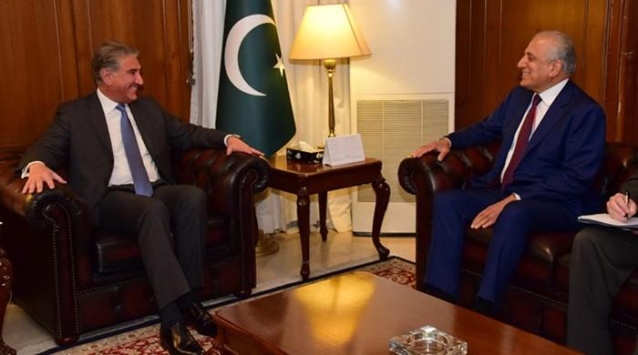 US values Pakistan's efforts for peace in Afghanistan, Khalilzad tells Qureshi