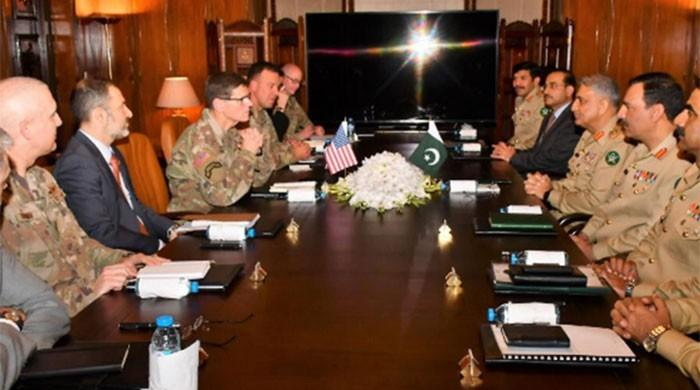 US CENTCOM chief meets COAS, Afghan peace process discussed