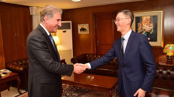 FM Qureshi, Chinese ambassador discuss CPEC progress, bilateral matters