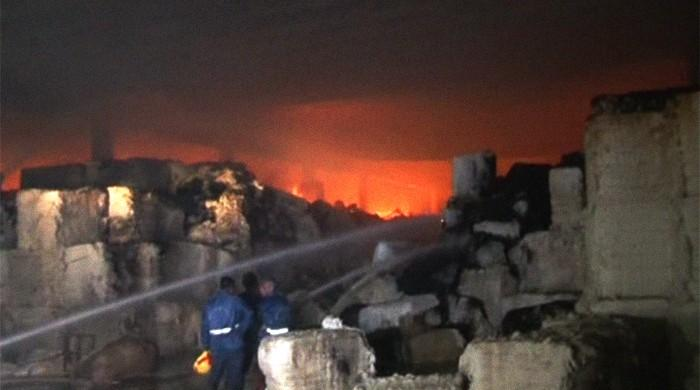 Fire in Karachi cotton go-down doused after 14 hours