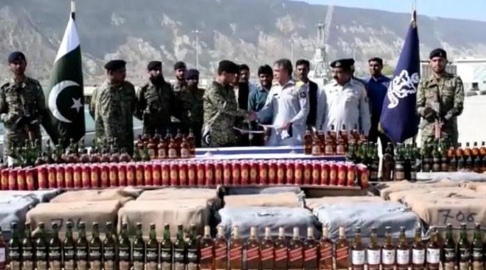 Rs20 million worth of liquor seized by Pakistan Navy