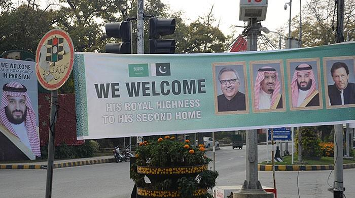 Saudi Crown Prince to arrive in Pakistan today to historic welcome