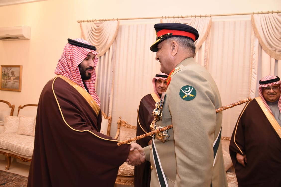 Saudi Crown Prince meets Chief of Army Staff General Qamar Javed Bajwa