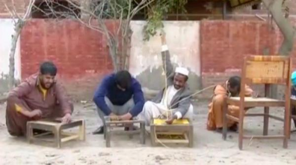 Visually-impaired workers in Faisalabad paid meagre wage for weaving chairs