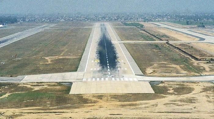 Flights face delay due to pothole on Lahore airport's runway