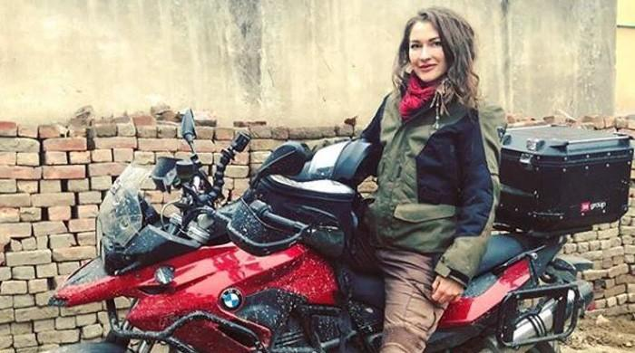 Canadian motorcyclist shares experience of riding as a 'single woman' across Pakistan
