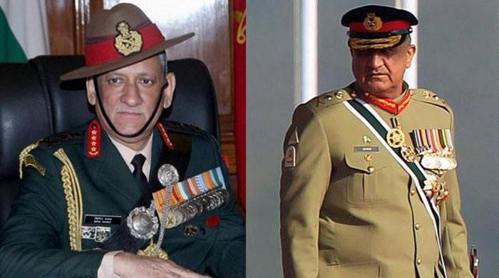 Indian army chief says he 'follows' COAS General Qamar Javed Bajwa