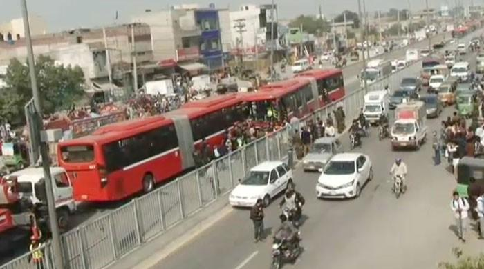 One dead, 12 injured in metro bus collision in Lahore