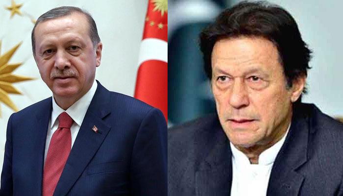 Erdogan calls Imran, appreciates his offer to India for de