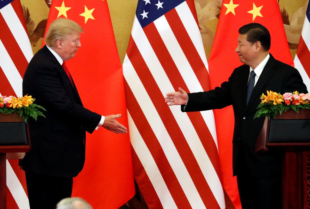 U.S. President Donald Trump and China's President Xi Jinping