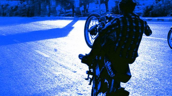Police seize several bikes over wheelieing on Karachi's Seaview Road