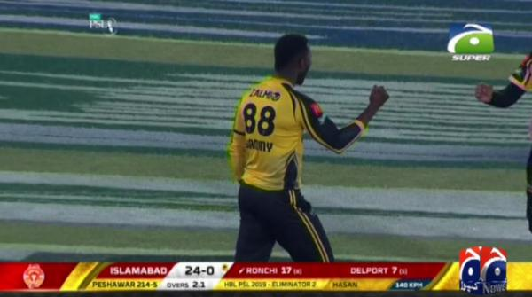 Peshawar storm into PSL final, beat Islamabad by 48 runs in eliminator
