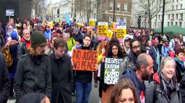Thousands march against Islamophobia, racism in London