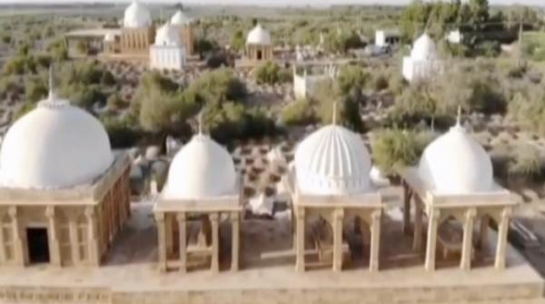 Historic Chotiari graveyard - the resting place of Sindh rulers who fought against invasion