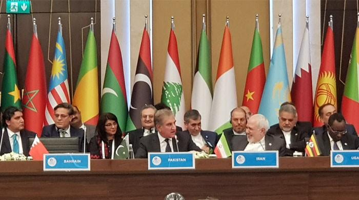 FM Qureshi urges UN for laws to tackle Islamophobia at OIC meeting