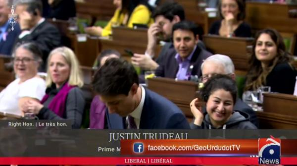 Canadian Prime Minister Justin Trudeau apologises for eating