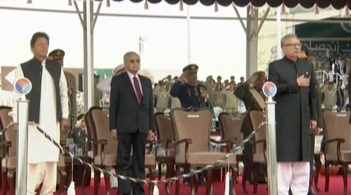 Pakistan Day military parade under way in Islamabad
