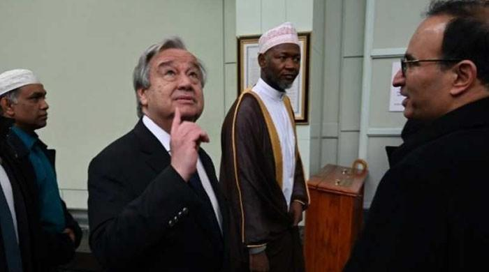 At New York mosque, UN chief pledges to help protect religious sites