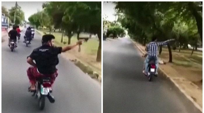 Police arrest one of many Lahore bikers engaging in aerial firing after video goes viral