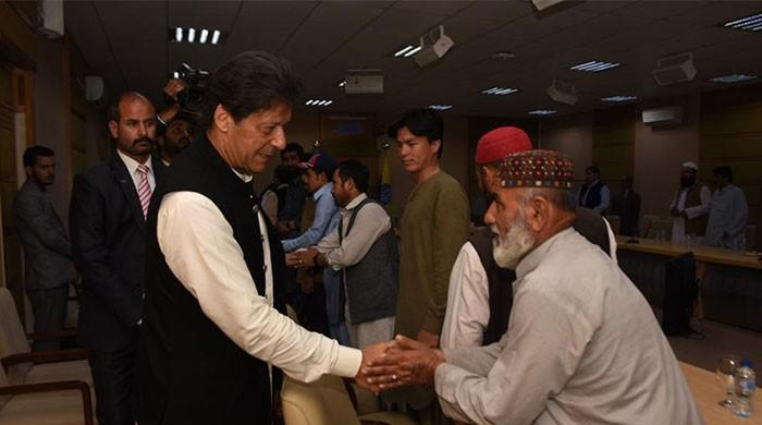 PM Imran Khan meets bereaved families of Hazarganji tragedy, offers condolence