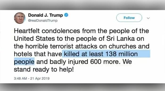 Offering condolence to Sri Lanka, Trump overstates death toll to be '138 million people'