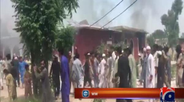 Residents set Peshawar hospital on fire after anti-polio drops allegedly make children ill