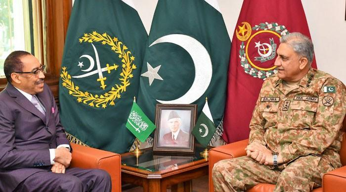 COAS, Saudi assistant minister for defence discuss regional security