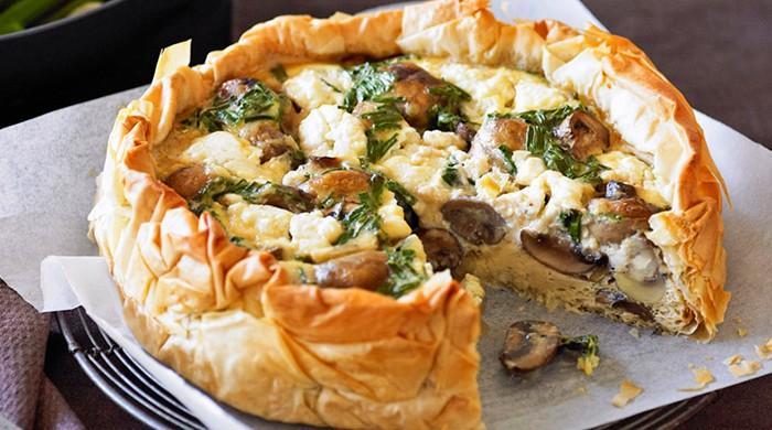 Recipe: Chicken and mushroom quiche