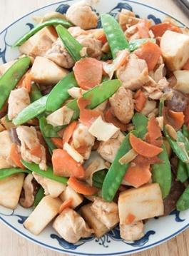 Recipe: Stir fried chicken with bamboo shoots & mushrooms